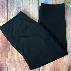 Talbots Curvy Stretch Ankle Pants Black Size 12